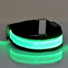 Hình ảnh 1Pcs Running Cycling Sports Safety LED Arm Band Nylon Wristband Belt Strap - intl