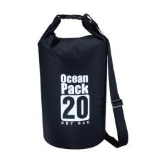 Hình ảnh 20L NHỰA PVC Chống Thấm Nước Đựng Đồ Khô Bao Túi Túi Bãi Biển Lưu Trữ (Màu Đen)- intl