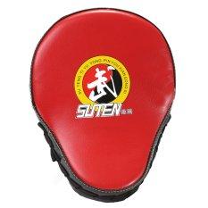 Hình ảnh 23x19x5 cm Găng Đấm Bốc Mitt Tay Mục Tiêu Tập Trung Đấm Cho Karate Mma Cạnh Màu Đen đỏ Bề Mặt-quốc tế