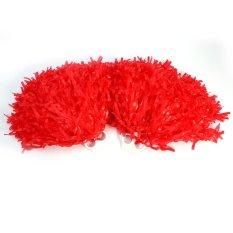 Hình ảnh 2 cái Cổ Vũ Pom Cổ Vũ Thể Thao Đảng Nhảy Phụ Kiện (màu đỏ)-quốc tế
