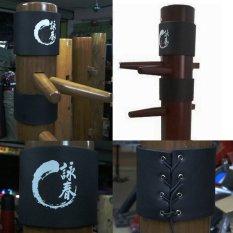 Hình ảnh 2x Vịnh xuân Cánh Tsun Ip Người Gỗ Giả Mook Jong Đầu Kungfu PU Bảo Vệ Đệm-quốc tế