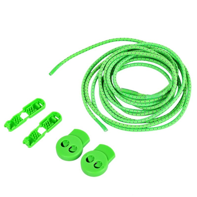 Mua 3 Pair / Set Comfortable Roller Skate Shoe Lock Lace Latchet with Cord Clip (Green) - intl