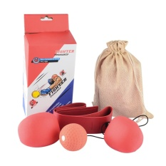 360WISH Adult Boxing Speed Ball Set Reactivity Awareness Training Punching Speed Ball for Fighting Free Combat - Red (Random Color of Ball and Headband)