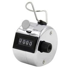 Hình ảnh 4 Digit Number Mini Hand Tally Counter Handheld Digital Pitch Mechanical Number Click Counters - intl