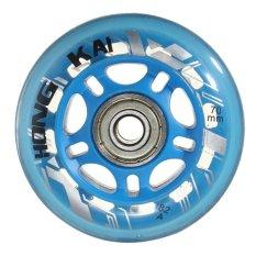 Giá bán 4 cái 70 mét 82A Thay Thế Bánh Xe Rollerblade Trượt Inline Skate Xanh Dương-quốc tế