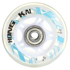 4 cái 70 mét 82A Thay Thế Bánh Xe Rollerblade Trượt Inline Skate Trắng-quốc tế