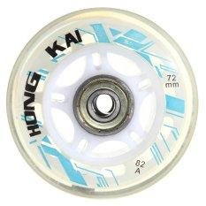 4 cái 72 mét 82A Thay Thế Bánh Xe Rollerblade Trượt Inline Skate Trắng-quốc tế