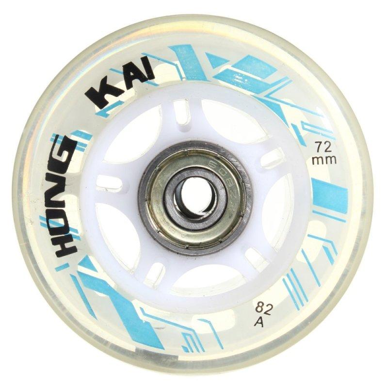 Mua 4 cái 72 mét 82A Thay Thế Bánh Xe Rollerblade Trượt Inline Skate Trắng-quốc tế