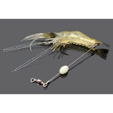 Giá Bán 5 Pcs Soft Simulation Prawn Shrimp Saltwater Lure Hook Bait Fishy Smell Intl