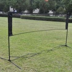 Hình ảnh 5.9 m x 0.79 m Đào Tạo Lưới Vuông Lưới Cầu Lông Xanh Lá-quốc tế