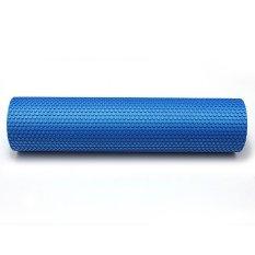 60cm Yoga Foam Roller Grid Trigger Point Pilates Massage Gym Physio Blue - Intl