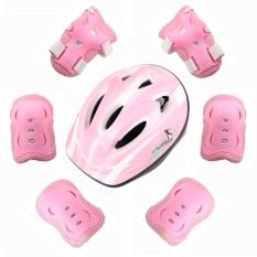 Cửa Hàng 7 Sets Of Children S Skating Knee Knees Helmet Beginner Bike Protection Helmet Pink Intl Oem Trung Quốc