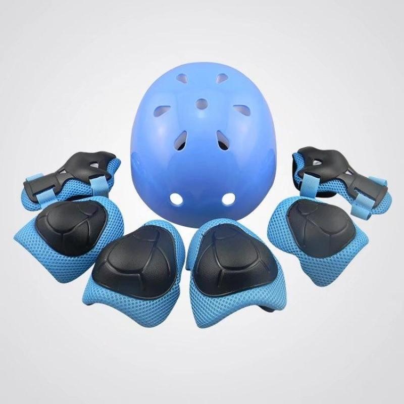 Mua 7 cái Bảo vệ Mũ Bảo Hiểm Khuỷu Tây Cổ Tây Lót Đầu Gối Có Thể Điều Chỉnh Vệ Trượt trượt Patin Đi Xe Đạp 1059-qu ốc tế