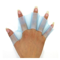 Giá Bán A Pair Of Soft Silicone Swim Frogman Swimming Webbed Gloves Size L Sky Blue Intl Nguyên
