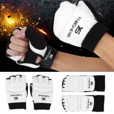 Hình ảnh Adult/Kids Taekwondo Sparring Half Finger Hand Protector Cover Boxing Gloves (S Glove) - intl
