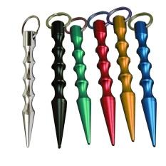Hình ảnh Aluminum Pointed Tactical Keyring Pocket Stick Black - intl