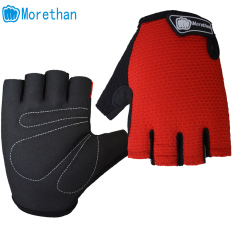 Hình ảnh Antiskid Racing Cycling Sports Outdoor Bicycle Gel Half Finger Gloves Red - intl