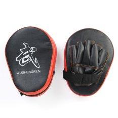 Hình ảnh Aukey 2X Boxing Mitt MMA Jab Focus Punch Pad Training Glove Karate Black & Red