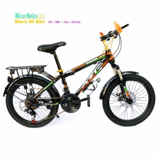 AZI bike  leo núi  20 icnh khung sắt   < vè baga >  2  đề