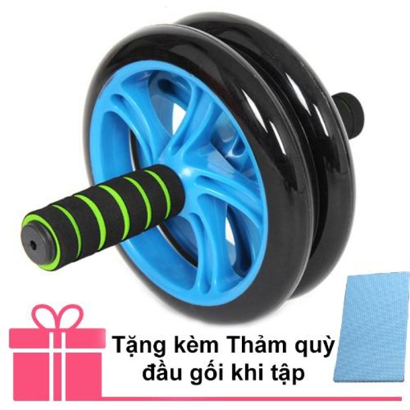 Bánh xe lăn tập cơ bụng cao cấp AB Wheel + Thảm quỳ đầu gối khi tập
