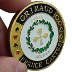 Hình ảnh Bellamall:Metal Craft Chips Poker Card Guard Hand Protector Commemorative Coin Protects - intl