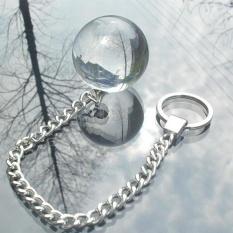 Ben Wa Kegel Crystal Balls Glass Viginal Pelvic Floor Exercise Tightening Bladde 4cm - intl