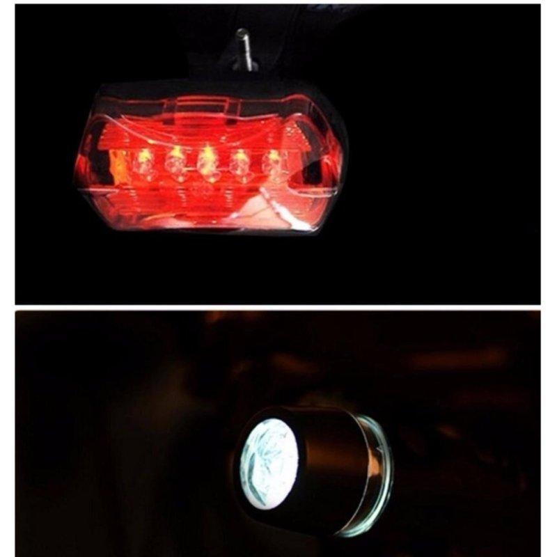 Mua Bicycle Light Set Super Bright 5 LED Headlight, 3 LED Taillight, Quick-Release - intl