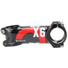 Bike Handlebar with 3K Carbon Fiber Ultralight Stem (Red) (90mm) - intl