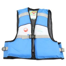 Hình ảnh Blue Child Kids Baby Buoyancy Aid Swimming Floating Life Jacket Vest 4 Color Size S - intl