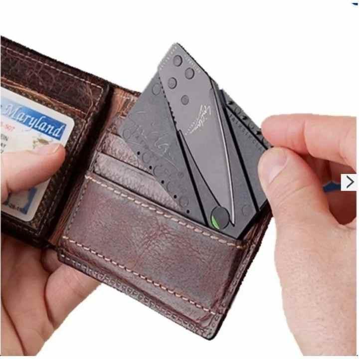 Bộ 2 dao du lịch thẻ ATM bỏ ví Loại 1 (Đen)