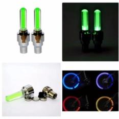 Hình ảnh Bộ 2 đèn led gắn van bánh xe đạp