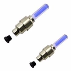 Hình ảnh Bộ 2 đèn led gắn van bánh xe đạp ( Led xanh dương)