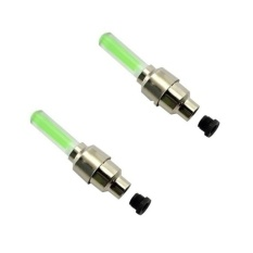Bộ 2 đèn led gắn van bánh xe đạp (Xanh lá)