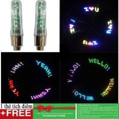 Bộ 2 đèn led tạo hình gắn van xe đạp + Tặng kèm thẻ 1 tích điểm Trangstore
