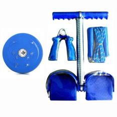 Hình ảnh Bộ 4 món dụng cụ tập thể dục đa năng Tummy và đĩa xoay eo (Xanh)