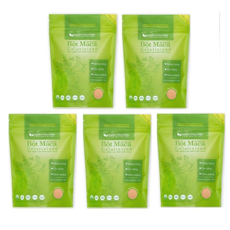 Bộ 5 gói bột Maca Nguồn Thiên Nhiên Organic Gelatinized 200g x 5