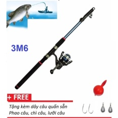 Hình ảnh Bộ cần câu cá 3M6 + Máy câu và phụ kiện câu cá