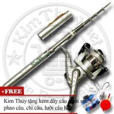 Bộ Cần Câu Bút Du Lịch KT Mini M1 Silver 100cm (Kim Thủy) + Kèm Máy Câu đứng + Dây Câu, Phao Câu, Chì Câu, Lưỡi Câu Giá Rẻ Bất Ngờ