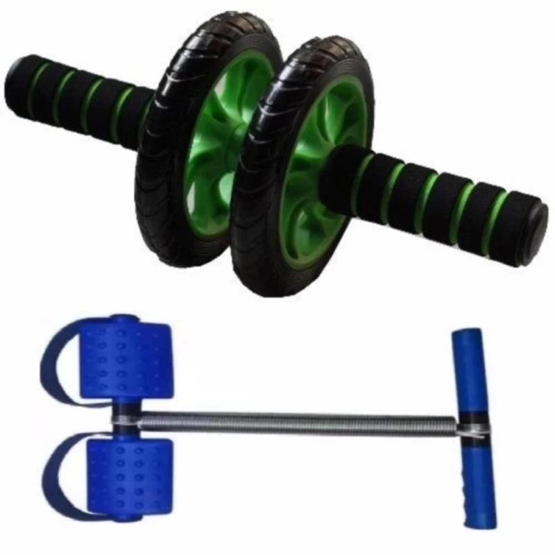 Bộ dụng cụ tập thể lực toàn thân (con lăn tập cơ bụng 2 bánh + dụng cụ kéo tập cơ bụng Tummy Trummer) adst.1004 BBTQ2161