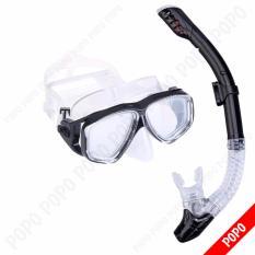 Hình ảnh Bộ kính lặn Ống thở, mắt KÍNH CƯỜNG LỰC, ống thở ngăn nước cao cấp + Quà Tặng 3M POPO Collection