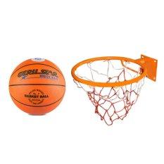 Hình ảnh Bộ quả bóng rổ Gerustar số 7 và vành rổ ZENO 40cm