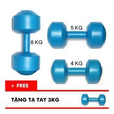 Hình ảnh Bộ tạ tay VN 4kg, 5kg, 8kg (Tặng kèm tạ tay 3kg)