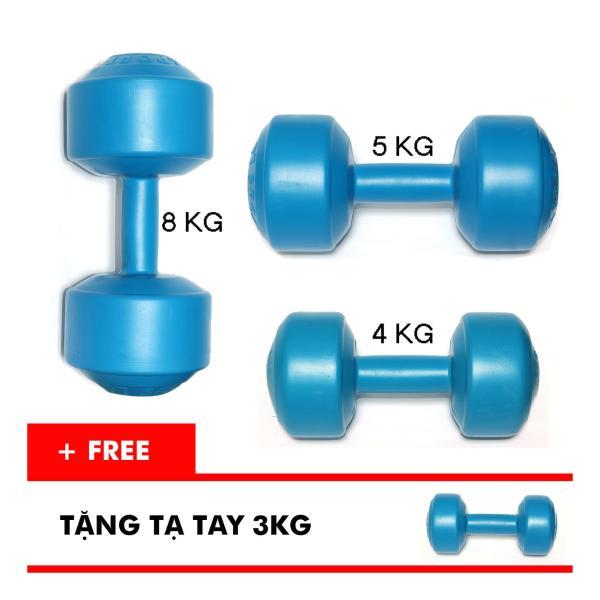 Bảng giá Bộ tạ tay VN 4kg, 5kg, 8kg (Tặng kèm tạ tay 3kg)