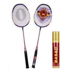 Hình ảnh Bộ vợt cầu lông Haotian 7725 + Cầu lông Ba Sao tập luyện (10 quả)