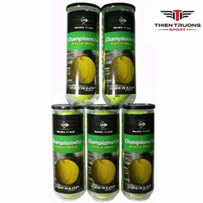 Giá Sốc Bộ 5 hộp bóng tennis Dunlop 3 quả Thiên trường