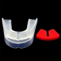 Quyền anh Bảo Vệ Miệng Silicone Cơ Quan Ngôn Luận Răng Tấm Bảo Vệ Cho Thể Thao trắng + đỏ-quốc tế