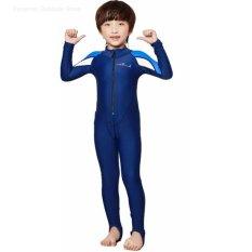 Hình ảnh Children's wetsuit boy diving suit long-sleeved surf snorkeling swimming clothes (for boy) - intl