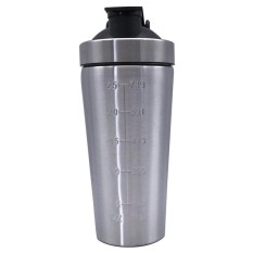 Hình ảnh Cocotina Stainless Steel Water Bottle/Protein Shaker/Blender Cup/Metal/Gym/Fitness/Drink - intl