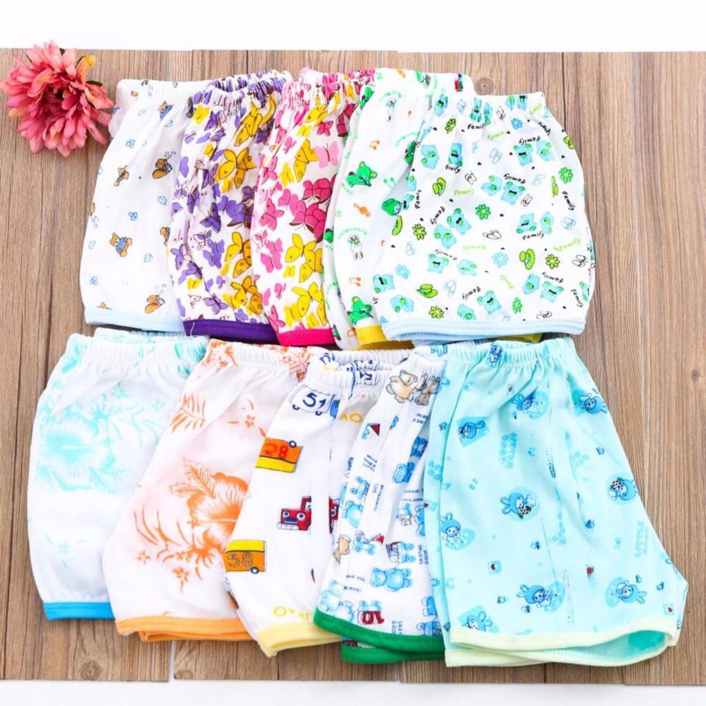 Hình ảnh Combo 10 quần đùi cotton hoa mát mẻ cho bé gái Chipxinhxk