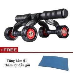 Con lăn tập cơ bụng 4 bánh cao cấp KAMA Ab Roller,dụng cụ tập thể hình,tập GYM,dụng cụ tập thể lực, dụng cụ tập cơ bụng sáu múi
